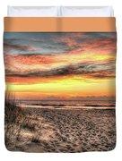 Sunrise Outer Banks Of North Carolina Seascape Duvet Cover
