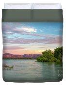 Sunrise Over A Colorado Lake  Duvet Cover