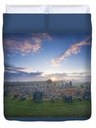 Sunrise Over Beaghmore Stone Circles Duvet Cover