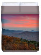Sunrise Over Blue Ridge Parkway. Duvet Cover