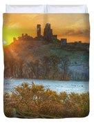 Sunrise Over Corfe Duvet Cover