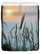 Sunrise Over Grass Duvet Cover