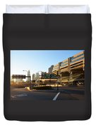 Sunrise Over Haymarket Station In Boston Duvet Cover