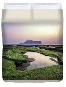 Sunrise Over Jeju Island Duvet Cover