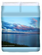Sunrise Over Lake Yellowstone Duvet Cover