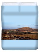 Sunrise Over Mont Saint-michel At Monts Duvet Cover