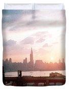 Sunrise Over Nyc Duvet Cover