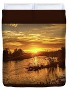 Sunrise Over  Payette River Duvet Cover