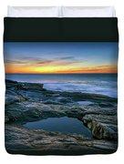 Sunrise Over Pemaquid Point Duvet Cover