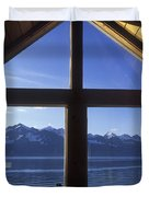 Sunrise Over Resurrection Bay From Salt Duvet Cover