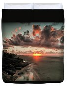 Sunrise Over The Beach Duvet Cover