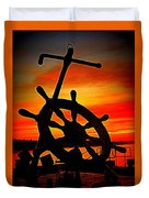 Sunrise Over The Captain's Wheel 2 Duvet Cover