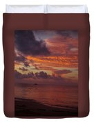 Sunrise Over The Caribean Duvet Cover