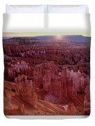 Sunrise Over The Hoodoos Bryce Canyon National Park Duvet Cover by Dave Welling