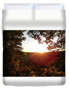Sunrise Over The Mountain  Duvet Cover