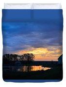 Sunrise Over The Pond Duvet Cover