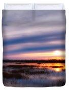 Sunrise Over The Salt Marsh Duvet Cover