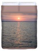 Sunrise Over The Sea Horizon Duvet Cover