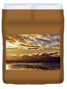 Sunrise Over The Spit Duvet Cover