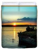 Sunrise Over Wilson Lake Duvet Cover