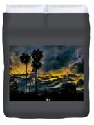 Sunrise Palms Duvet Cover