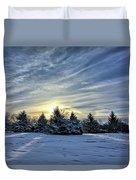 Sunrise Pines Duvet Cover