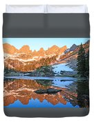Sunrise Reflection At Willow Lakes Duvet Cover
