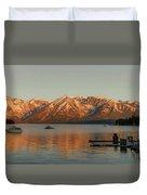 Sunrise Reflections On Colter Bay Duvet Cover