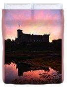 Sunrise Silhouetting Dunvegan Castle S Duvet Cover