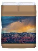 Sunrise Storm Over Sedona Duvet Cover