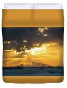 Sunrise Surf Spray Delray Beach Florida Duvet Cover