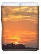Sunrise Through Clouds 2451 Duvet Cover