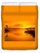 Sunrise Through Lake Mist Duvet Cover