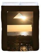 Sunrise Through The Pavilion Duvet Cover