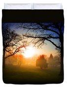 Sunrise Through Trees Duvet Cover