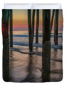 Sunrise Under The Pier Duvet Cover