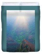 Sunrise Waimea Canyon Duvet Cover