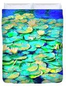 Sunrise Waterlilies Duvet Cover