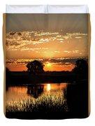 Sunrise's Crepuscular Rays Duvet Cover