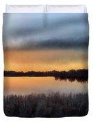 Sunrise On A Frosty Marsh Duvet Cover