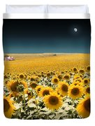 Suns And A Moon Duvet Cover