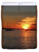Sun's Up Provincetown Pier 3 Duvet Cover