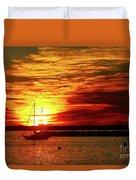 Sun's Up Provincetown Pier 4 Duvet Cover