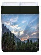 Sunset 1 Yosemite  Duvet Cover