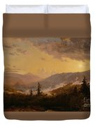 Sunset After A Storm In The Catskill Mountains Duvet Cover