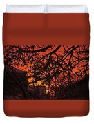 Sunset After The Snow Storm Duvet Cover