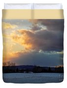 Sunset After Wild Day Duvet Cover
