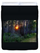 Sunset Along The Florida Trail - St.marks Duvet Cover