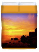 Sunset And Fire Duvet Cover