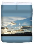 Sunset And Iridescent Cloud Duvet Cover